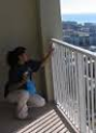 cleaning balcony railings